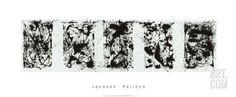 Black and White Polyptych Serigraph by Jackson Pollock at Art.com