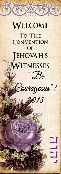 """District Convention Bookmarks. 2018 """"Be Courageous""""! District Convention Bookmarks make a lovely inexpensive gift for those who attend; ..."""