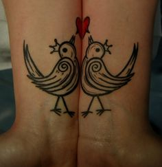 Cute. Matching tattoos for couples.