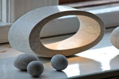 Concrete Lamp Ellipse table lamp by gooeybrand on Etsy