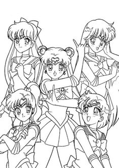 Free & Easy To Print Sailor Moon Coloring Pages