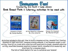 This 48 page snowman unit is filled with math and literacy activities to use with the stories: *Snowmen at Night. I love the sequencing of how to build a snowman on the actual snowman! Math Literacy, Literacy Activities, Help Teaching, Teaching Resources, How To Build A Snowman Writing, Sneezy The Snowman, Snowmen At Night, Art Handouts, Math Night