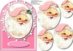 Lovely Shaped card with Santa  on Craftsuprint - Add To Basket!