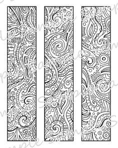 Printable DIY Bookmarks - Print and Color Yourself - maybe a different take on Mandalas?