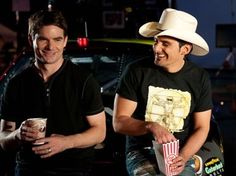 Brad Paisley and Jeff Gordon - These two really do look alike!