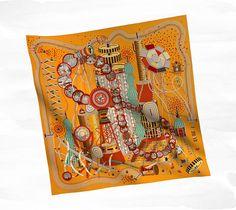 Hermes scarf: Le Laboratoire du Temps #hermes #scarf
