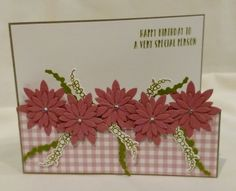 Oh So succulent stampin'Up! Frenchie, Great fold card, 3- D www.frenchiestamps.com