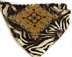 Brown paisley with Animal print Scarf for Men, Gift for Coworker, Satin Head scarves under 10,  Great Gift idea for Cancer Friend, Bandana by blingscarves. Explore more products on http://blingscarves.etsy.com