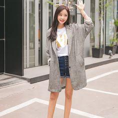 #envylook Single-Breasted Long Jacket #koreanfashion #koreanstyle #kfashion #kstyle #stylish #fashionista #fashioninspo #fashioninspiration #inspirations #ootd #streetfashion #streetstyle #fashion #trend #style