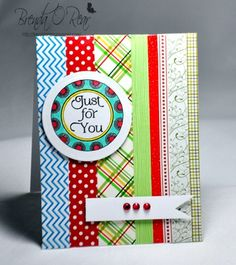 Benzi Stampz: Circles and Washi Tape using Cute Circles stamp set