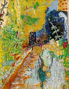 "Pierre Bonnard: Terrazza di Vernon 1920, rimaneggiato nel 1939 olio su tela, 58 1/4 x 76 3/4"" (148 x 194.9 cm) The Metropolitan Museum of Art, New York"