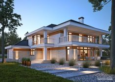 Modern Architecture House, Modern Buildings, Architecture Design, Dream Home Design, Home Design Plans, Modern House Plans, Modern House Design, House Outside Design, Two Storey House