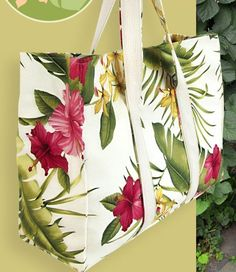 Find this beautiful vintage bark cloth. Tutorial for making the bag on Sew4Home.com Fabric is Big Kahuna Hamakua White Bark Cloth, White Fabrics, Bag Making, Fabric Crafts, Craft Projects, Tote Bag, Big, Womens Fashion, How To Make