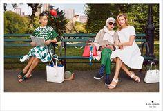 Kate Spade Spring 2015 campaign Iris Apfel, Karlie Kloss, Michelle Harper