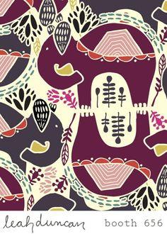 Pattern - Elephant by leah duncan