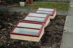 cold frames from recycled materials. go to the restore!