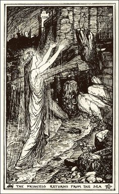 Henry Justice Ford ~ The Princess Returns from the Sea ~ The Orange Fairy Book by Andrew Lang ~ 1906 ~ via The Pictorial Arts
