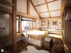 Dom w górach. Salon kąpielowy. - Łazienka - Styl Rustykalny - Marta Magnowska - Projektowanie Wnętrz i Wizualizacje