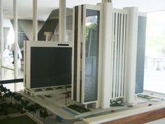 Maquete da torre Oscar Niemeyer.    Acesse a FGV no Facebook:  http://www.facebook.com/fgv.oficial