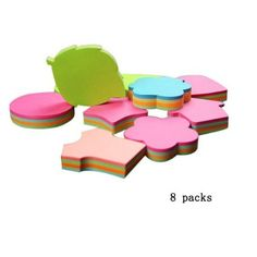 Amazon.com : Aimeio Creative Colorful Sticky Note Self-stick Note Post-it Note(100 Sheets per Pack,Random delivery) : Office Products