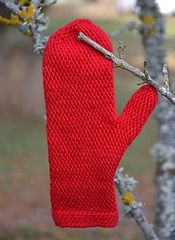Yes, It is crochet.I thought it looked like knitting.but I checked so here are these pretty : Red mittens pattern by Ann Linderhjelm Crochet Mitts, Slip Stitch Crochet, Crochet Mittens Pattern, Knit Or Crochet, Crochet Scarves, Knitting Patterns Free, Crochet Clothes, Crochet Hooks, Crochet Patterns