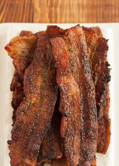 For people on a low-sodium or salt-free diet, this is bacon that looks, smells, and tastes like the real thing - and it only takes an hour. No Sodium Foods, Low Sodium Diet, Low Sodium Recipes, Low Carb, Low Sodium Jerky Recipe, Low Sodium Meals, Sodium Intake, Heart Healthy Recipes, Healthy Dinner Recipes