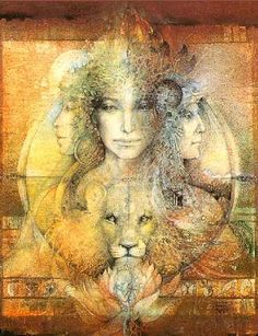 The Spirit of the Goddessis / Er is ook een wijd verspreide traditie die te maken heeft met de drievoudige Godin. Maagd, Moeder en de Wijze Vrouw. De Maagd, die symbool staat voor jeugd en mogelijkheden . De Moeder, die creativiteit en het verzorgende aspect vertegenwoordigd. En de Wijze Vrouw,die wijsheid, overgangsfase en verantwoordelijkheid symboliseert. Alle aspecten van de drievoudige Godin vertegenwoordigen verschillende manieren van heling en groei.