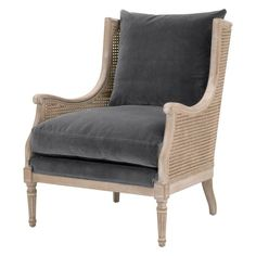 Churchill club chair — France & Son Hand Chair, Chair Bed, Blue Wingback Chair, Country Blue, French Country, Black Floor Lamp, Transitional Style, Club Chairs, Living Room Chairs