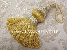 Gold Key Tassel http://www.decorclassique.com