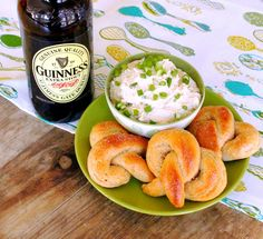 Addictive Guinness Cheddar Dip with quick and buttery homemade pretzels  www.foodtasticmom.com