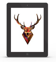Abduzeedo's iPad wallpaper of the week by Justin Maller
