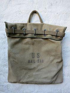 U.S vintage luggage military bag large duffle Vintage bag Calvary pack canvas bag brass buckles 1900s bag