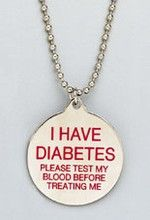 Free Diabetes Necklace Takes a long time for it to come in the mail.