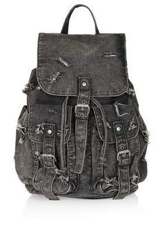 Designer Clothes, Shoes & Bags for Women Topshop Bags, Denim Backpack, Rucksack Bag, Denim Bag, Ripped Denim, Backpack Purse, Black Backpack, Leather Backpack, Gifts