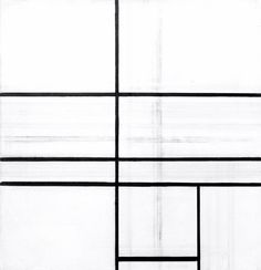 "Piet Mondrian (b. 1872 - d. Dutch), ""Composition with Double Line"" [unfinished], Piet Mondrian, Bauhaus, Another Green World, Modern Art, Contemporary Art, Dutch Painters, Art Moderne, Cubism, Installation Art"