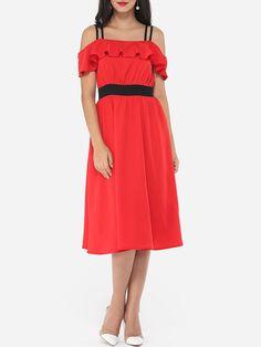 Glamorous Spaghetti Strap Skater Dress Only $19.99- fashionme.com - fashionme.com