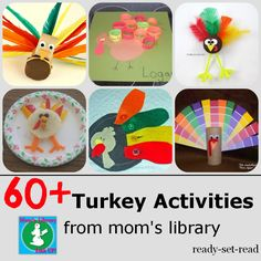 60+ Turkey Themed Activities, Crafts, books, and printables from Mom's Library Link Up. #momslibrary