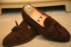 suede tassel loafers -