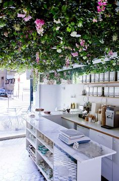 """Lily of the Valley"" café and tea room in Paris - designed by Marie Deroudilhe 
