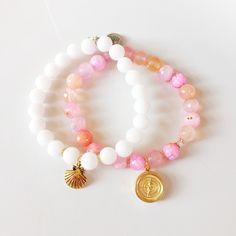 Beach bracelets.