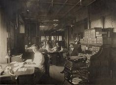 Women and Men Working in Office at Standard Adding Machine Company, 3701 Forest Park Boulevard. | collections.mohistory.org