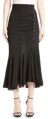 Shop Now - >  https://api.shopstyle.com/action/apiVisitRetailer?id=618234923&pid=uid6996-25233114-59 Women's Michael Kors Drape Silk Midi Skirt  ...