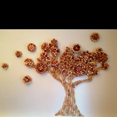 """My personalized cork art... I call it """"The Tree of Life""""."""