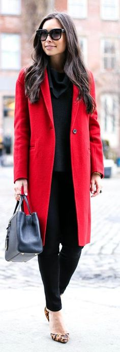 Red Stylish Coat by With Love From Kat