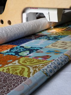 quilting using a quilting frame and regular sewing machine