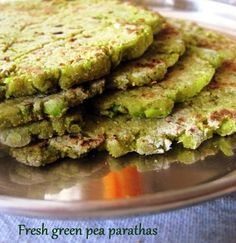 Give these fresh green peas parathas a try before the peas season bids goodbye!