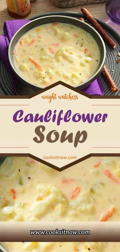 Cauliflower Soup, Thick and Creamy Cauliflower Soup is a delicious, healthy low . - Cauliflower Soup, Thick and Creamy Cauliflower Soup is a delicious, healthy low carb substitute for - Crock Pot Recipes, Crock Pot Soup, Healthy Crockpot Recipes, Ww Recipes, Cooking Recipes, Healthy Soups, Bacon Recipes, Dessert Recipes, Crockpot Ideas