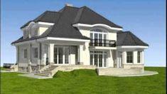 White 2 Storey House Design, Unique House Design, Spanish Style Homes, Home Design Plans, Architect Design, Home Fashion, Decoration, House Plans, Floor Plans