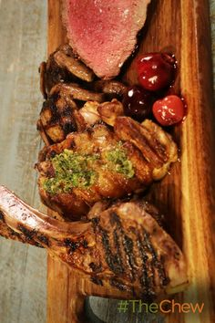 Wow your dad with this elegant and amazing Father's Day Mixed Grill with Pickled Cherries & Salsa Verde dish that can be made with 1 of 4 meats!