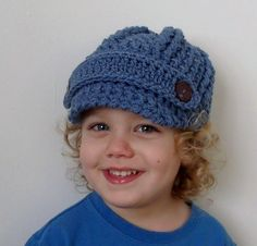 Crochet Newsboy Hat PDF Pattern (Any Size Any Yarn) by UniqueEarthling (Thomasina Cummings Designs)